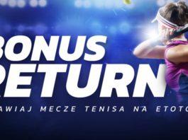 Cashback dla graczy Etoto. Zgarnij nawet 100 PLN na tenis!