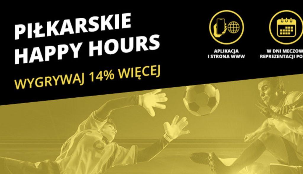 Fortuna Happy Hour. Godzina z bonusem 14%!